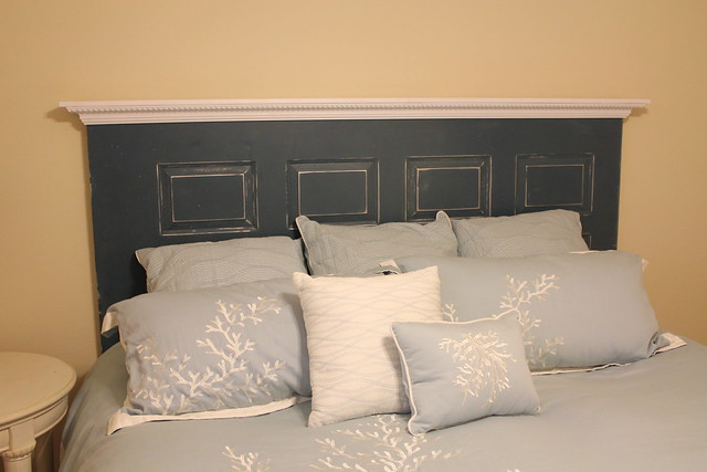 diy headboard, diy door headboard