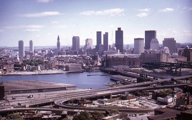 Boston Skyline, from Bunker Hill Monument