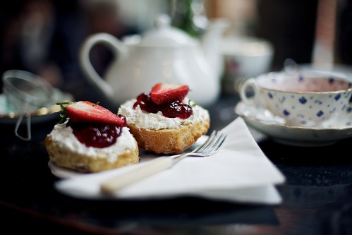 Scones at The Hidden Lane Tea Room by Ashley Baxter