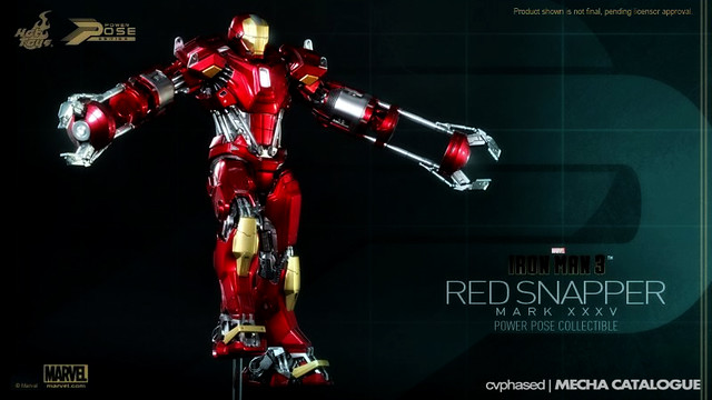 Hot Toys 1/6 Power Pose Collectible Iron Man Mark XXXV (Red Snapper)