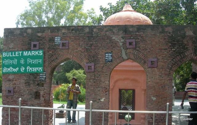 Bullet marks at Jallianwala Bagh Amritsar