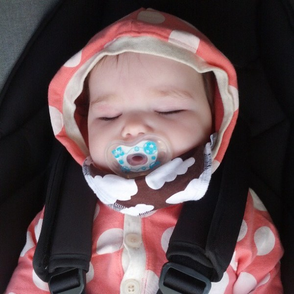 First time she's accepted a soother in weeks #tinybuttonsblog