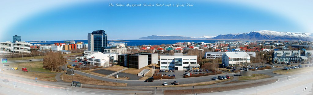 The Hilton Reykjavik Nordica Hotel with a Great View