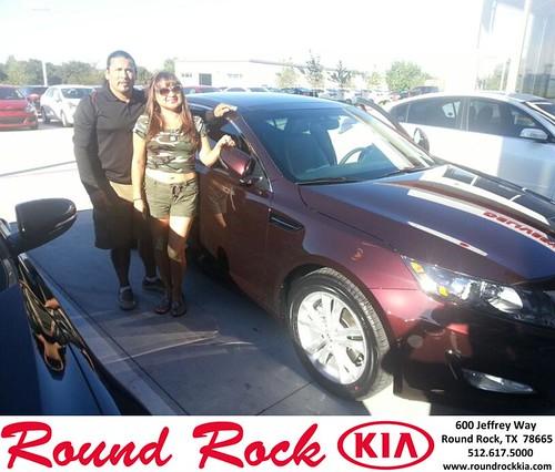 Thank you to Lupe Lewis on your new 2013 #Kia #Optima from Fidel Martinez and everyone at Round Rock Kia! #LoveMyCar by RoundRockKia
