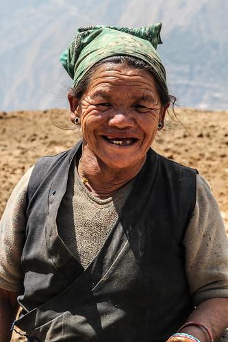 Tibetan woman - Lantang, Himalaya, Nepal. by Raffaella di Iorio Photography