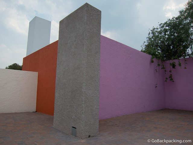 The very private rooftop terrace, where Luis Barragan liked to entertain guests