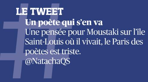 Tweet du jour dans Le Figar pour Moustaki