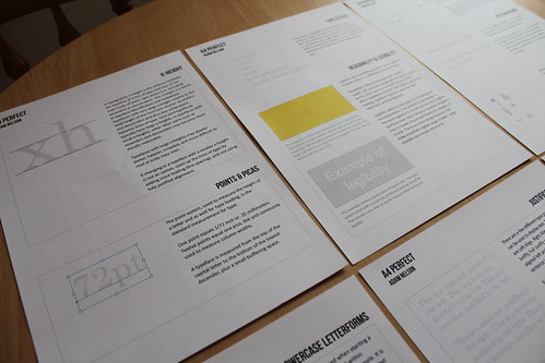 A4 Perfect Project: Typography Research Sheets
