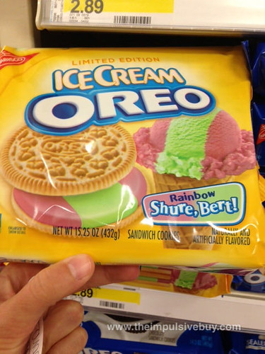 Limited Edition Ice Cream Oreo Rainbow Shure, Bert!