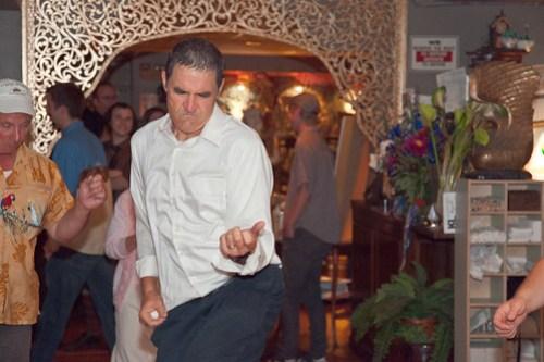 Bride's dad rocking out