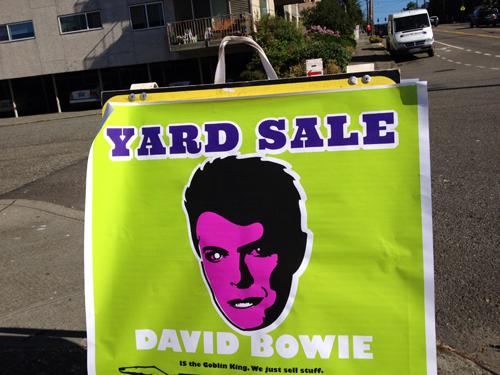 Yard Sale David Bowie
