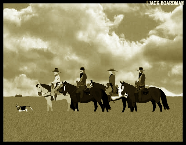 Boomer Hickok & Company on the trail ©2012 Jack Boardman