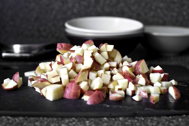 diced red potatoes