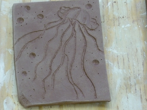 Clay tile carving by rjknits