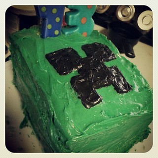 Last minute Creeper cake lol
