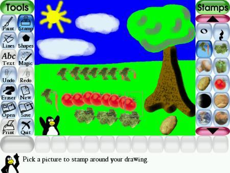 Tux Paint  Juego para aprender a dibujar y pintar