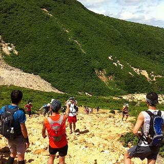 まもなく安達太良山山頂。