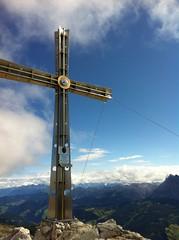 Gipfelkreuz Sassongher
