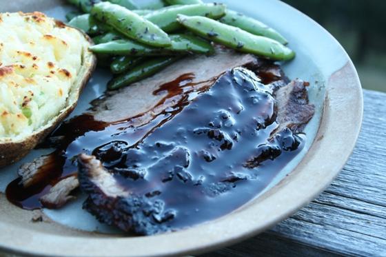 Balsamic Glazed Flank Steak - Delishhh