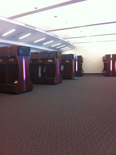 TCU's brand-new locker room