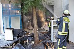 Sperrmüllbrand Saalgasse 10.07.12