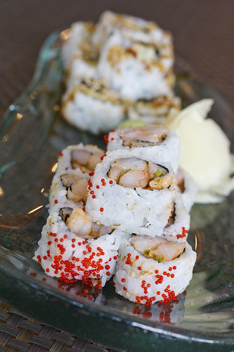 Unagi Maki and Spicy Shrimp