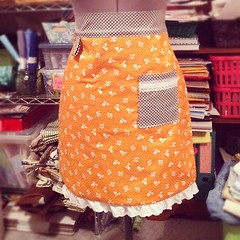 Boom! Orange apron is finished. I love it! #craftynicole