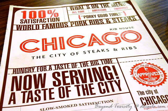 chicago ribs menu