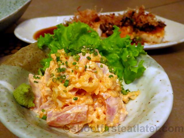 spicy tuna sashimi P320