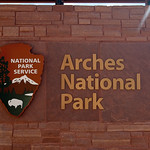 Sign for Arches National Park