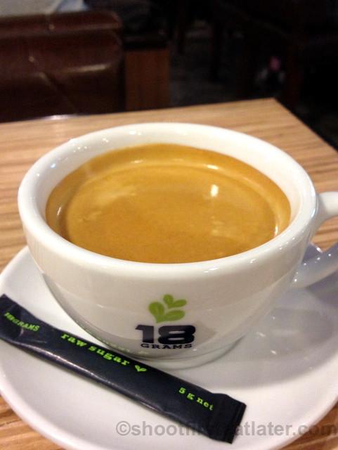 18 grams house coffee HK$28