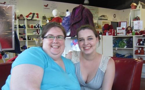 Tara & Julie at the Knitting Nest