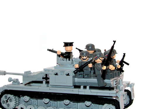 Panzergrenadiers with BrickArmy's weapons
