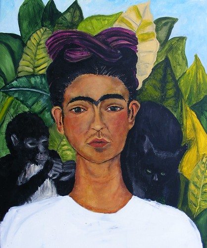 Frida Kahlo Self-Portrait 1940 Study WIP #9