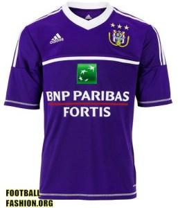 RSC Anderlecht adidas 2012/13 Home Football Kit / Soccer Jersey