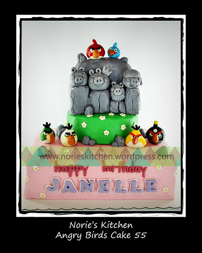 Norie's Kitchen - Angry Birds Cake 55 by Norie's Kitchen