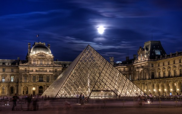 Louvre Pyramid Pyramide Du Paris November 2012