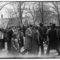 Police Break Up Unemployed Protest at White House: 1930