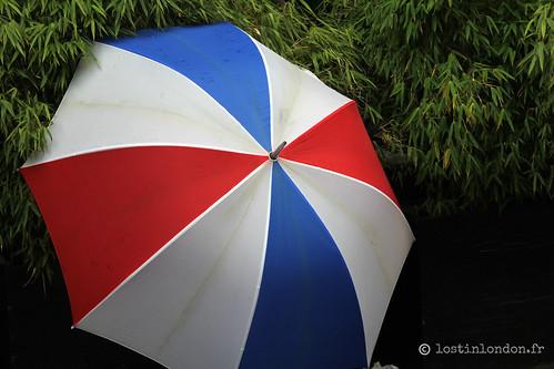 parapluie bleu blanc rouge
