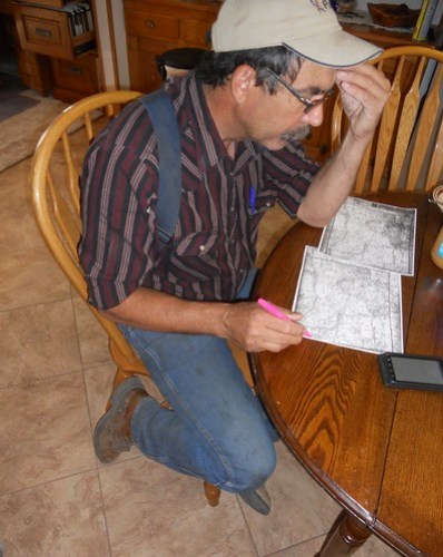 Dad scouting route