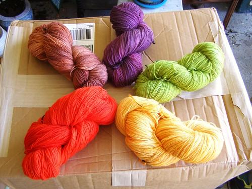 big boxes of yarn