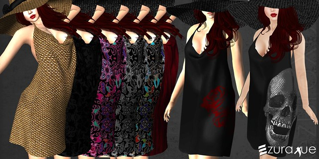 ezura + Halter dress with floppy hat - ALL
