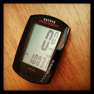My 2012 cycling goal: 1,000 road miles. Today I hit 1,003. BOOM! #CrushIt #bikeschool