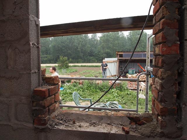 Fenêtre de la salle de bain, vue de l'intérieur