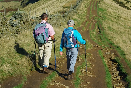 20111016-28_Striding Out on The Great Ridge towards Back Tor by gary.hadden