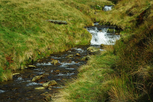 20111016-14_Cascading Stream in Clough -Southern Flanks of Kinder Scout by gary.hadden