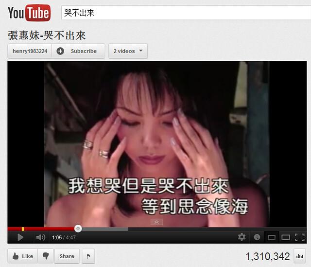 阿妹的經典歌曲之一「哭不出來」。很呼應我的「吐不出來」。