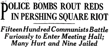 police bombs rout 1931