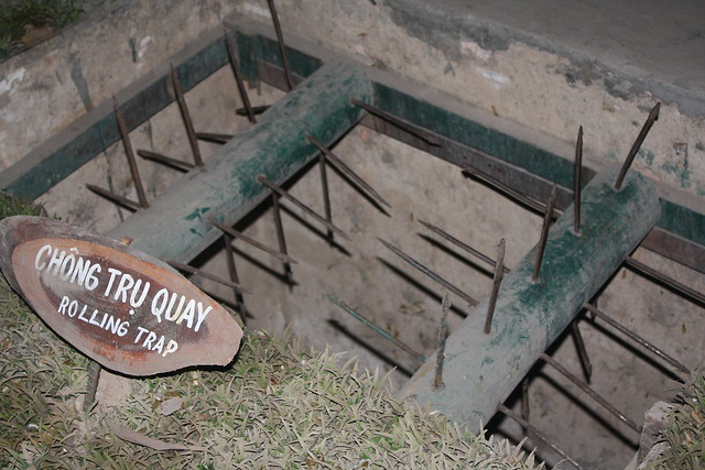 Booby trap at Cu Chi