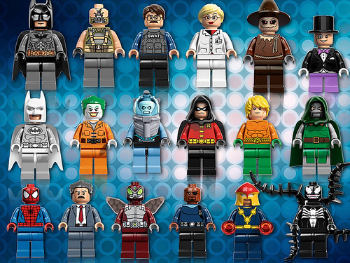 New DC and Marvel minifigs